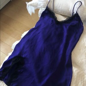 Out from under satin slip